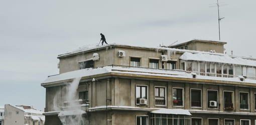 déneigement d'un bâtiment